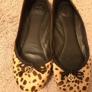 Tory Burch cheetah/leopard ballet flats- size 9.5